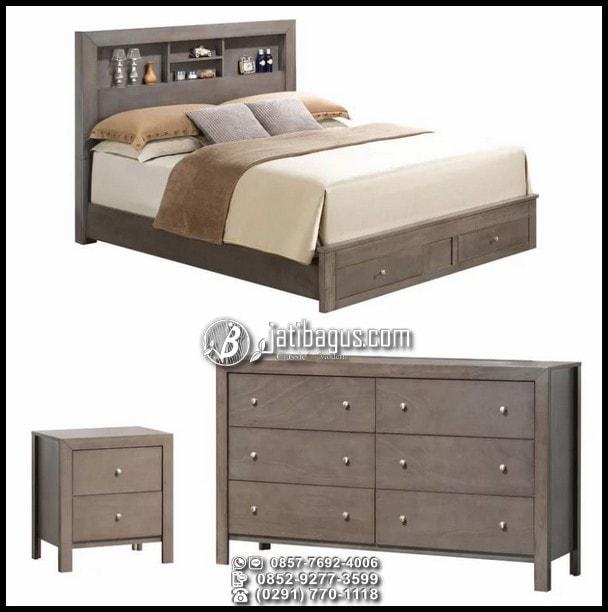 Set Tempat Tidur Minimalis Jati Murah
