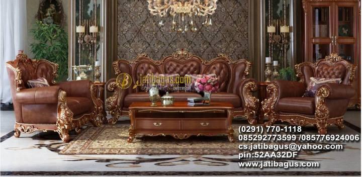 Set Kursi Tamu Sofa Ukir Klasik