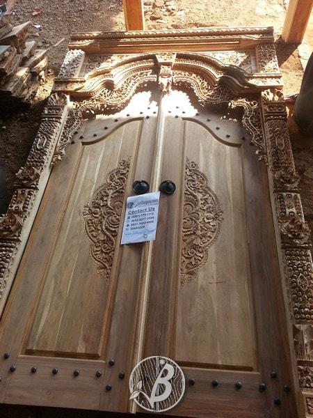 Pintu Ukir Gebyok Jepara Ukuran 275x180