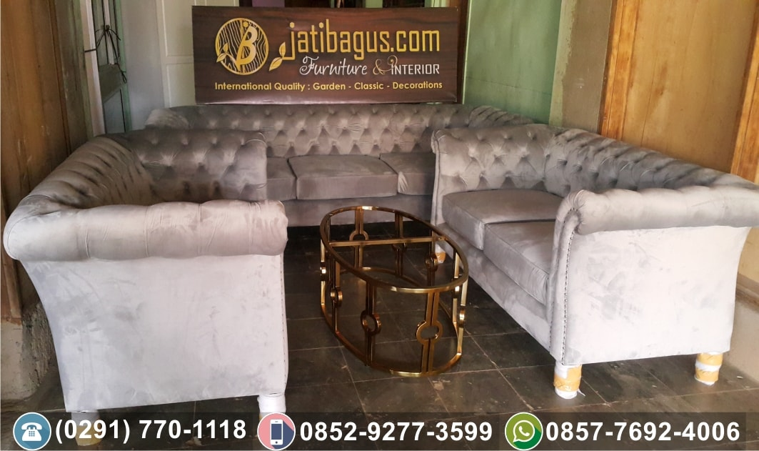 Jual Kursi Tamu Sofa Minimalis Kayu Jati