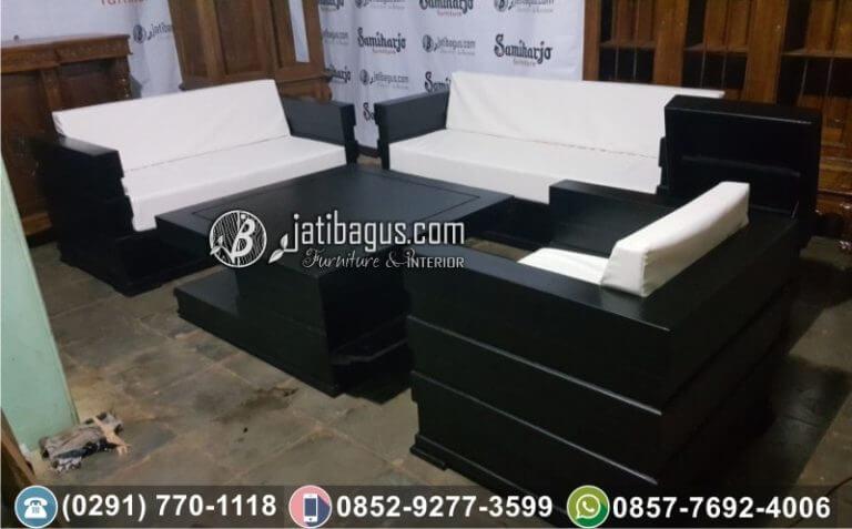 Kursi Tamu Sofa Minimalis Jati ke Tangerang