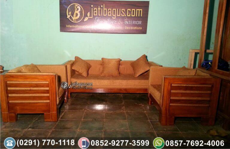 Kursi Tamu Sofa Minimalis Jati ke Jambi