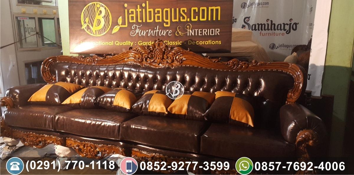 Kursi tamu sofa ukir murah