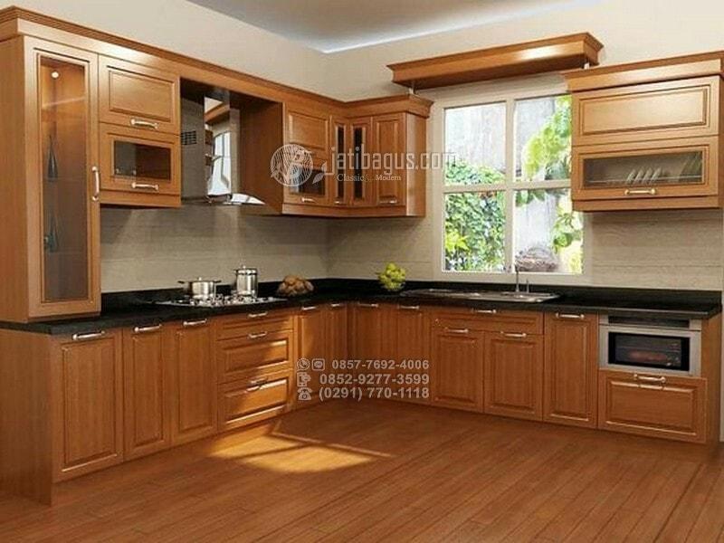 Jual Aneka Desain Kitchen Set Minimalis Kayu Jati Asli
