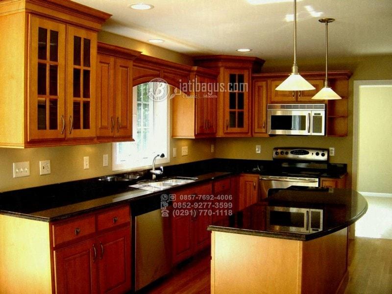 Desain Kitchen Set Minimalis Jati