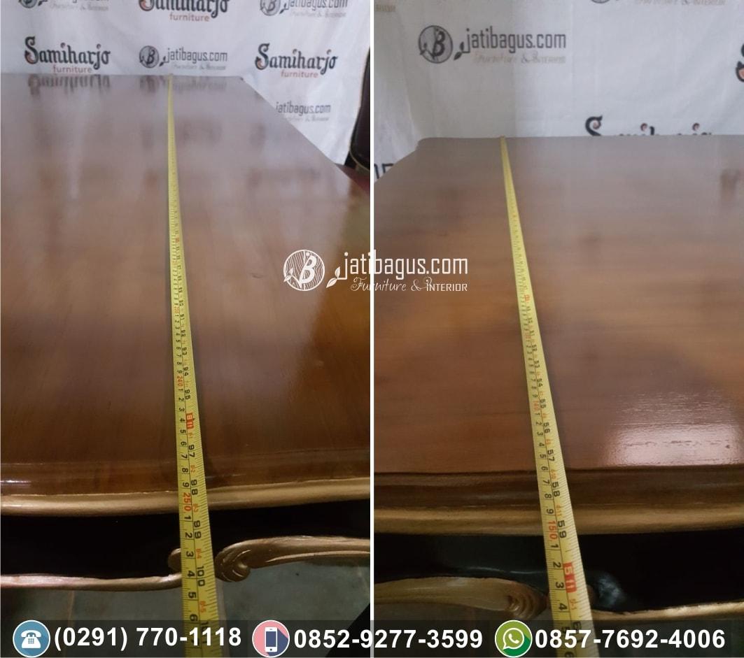 meja makan ukir 250cm 2,5m 3m