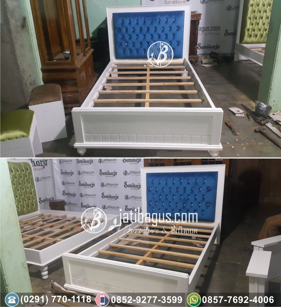 Tempat Tidur Minimalis Mahoni