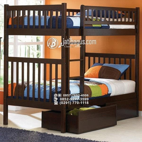 Tempat Tidur Minimalis Tingkat Kayu