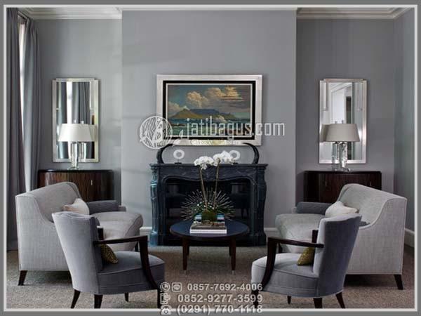 set meja tamu minimalis hitam abu grey