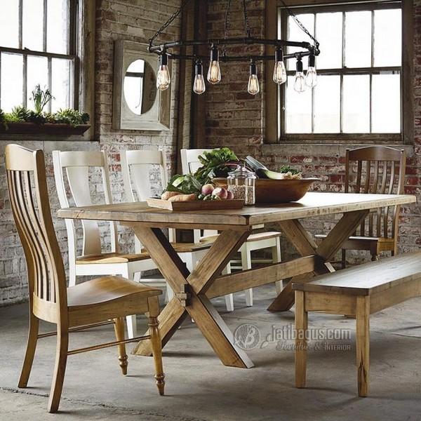 Jual set meja makan minimalis klasik Murah